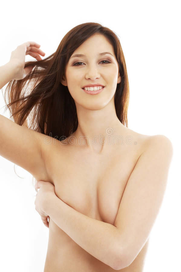 Download Smiling Topless Brunette With Stock Images - Image: 2307444
