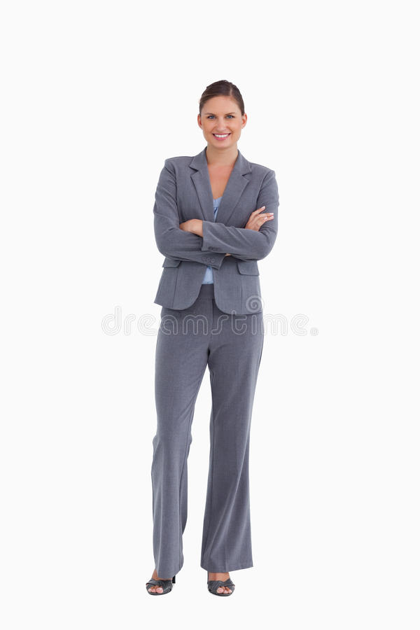 Download Smiling Tradeswoman With Her Arms Folded Stock Image - Image: 23015177