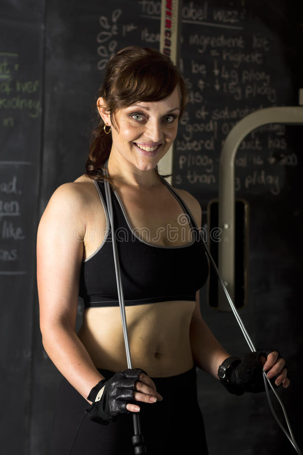Download Smiling Trainer Or Athlete In Gym Stock Photo - Image: 28569150