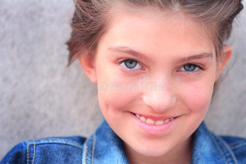 Smiling Tween Girl royalty free stock image