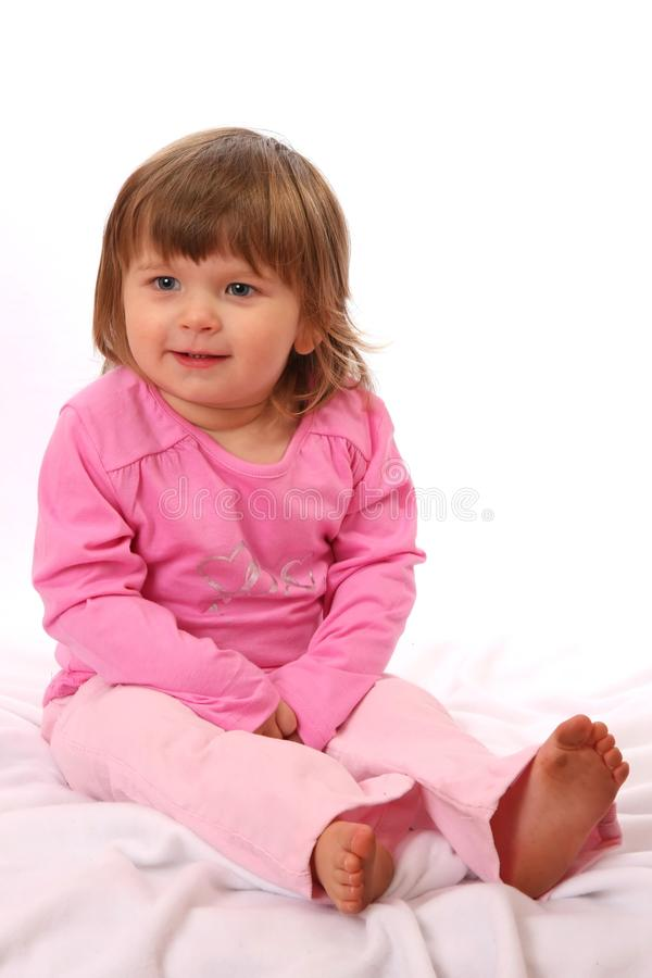 Smiling Two Year Old Girl royalty free stock photo