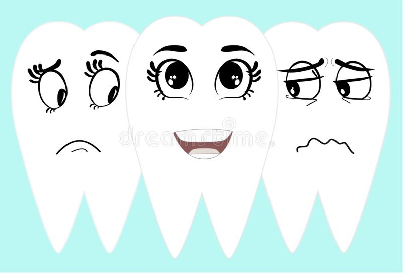 Smiling with white clean teeth royalty free stock images
