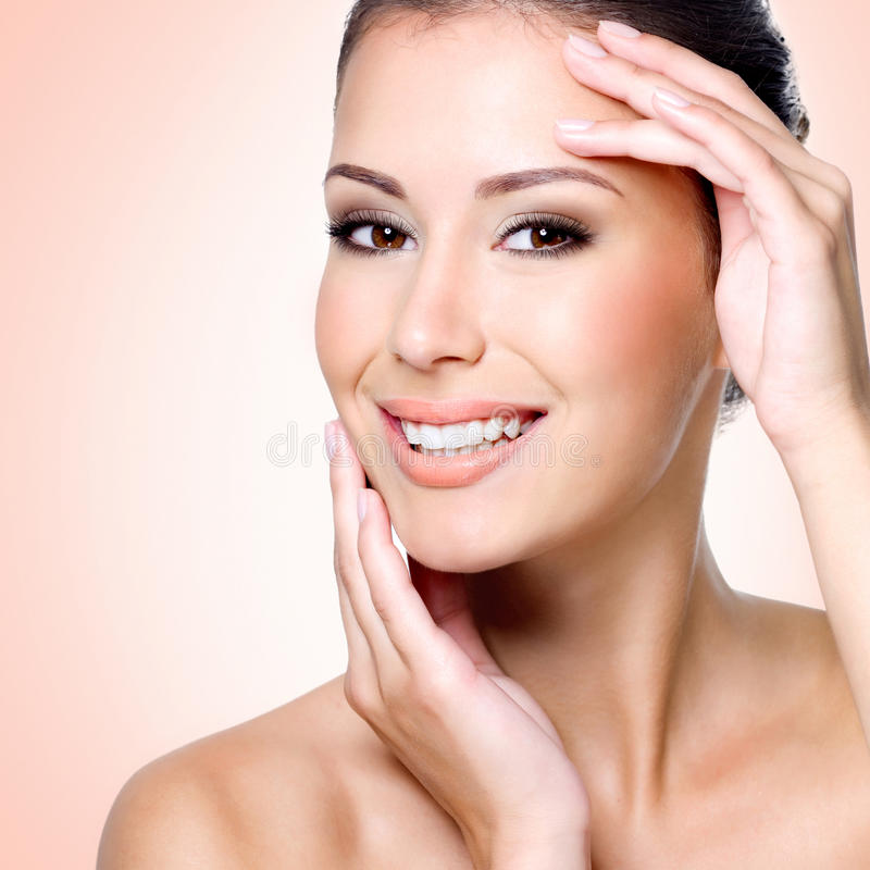Download Smiling White Woman With Healthy Skin Of Face Stock Photo - Image: 36603244