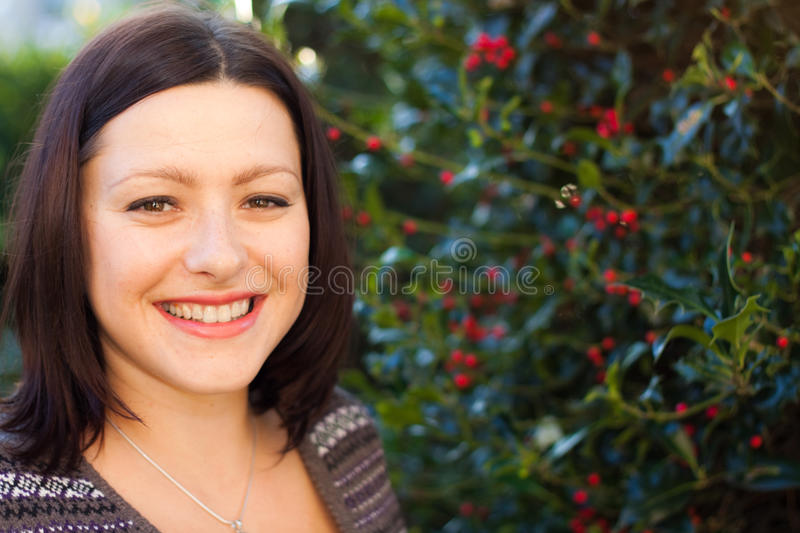 Download Smiling woman stock image. Image of outdoor, beauty, eyes - 21609939