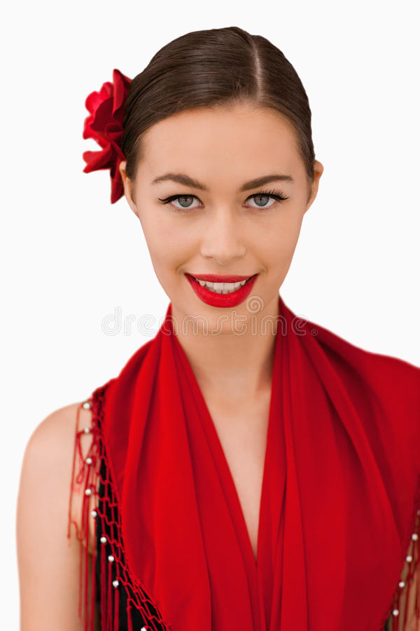 Download Smiling woman stock image. Image of black, dance, long - 25336445