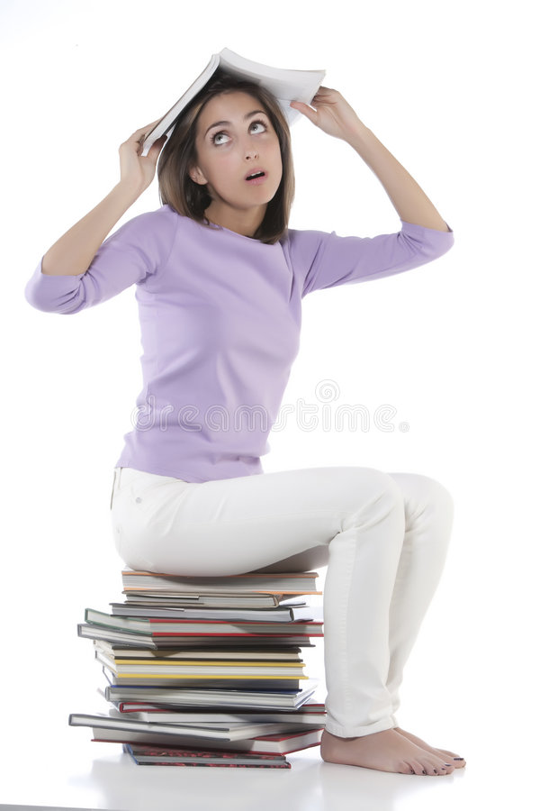 Download Smiling woman stock image. Image of large, learning, attractive - 9165069