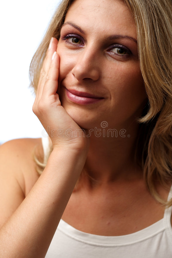 Download Smiling woman stock photo. Image of glad, satisfied, woman - 977658