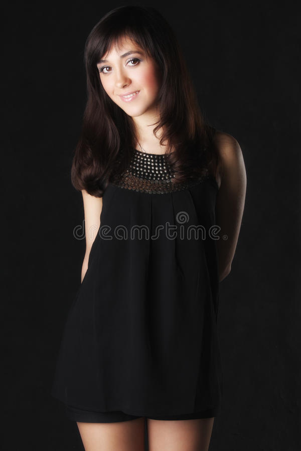 Download Smiling Woman In Black Stock Image - Image: 13504181