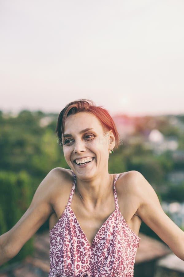 Smiling woman close up. royalty free stock photos