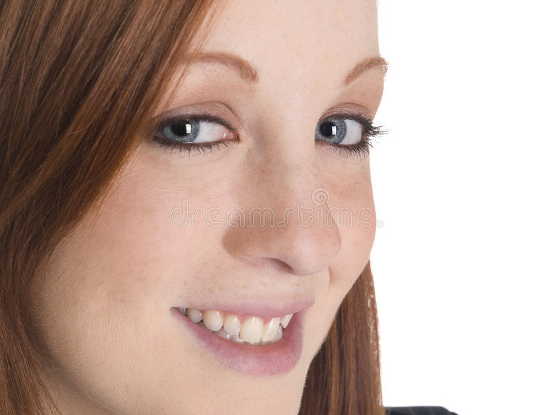 Download Smiling woman closeup stock image. Image of lipstick, pretty - 6280283