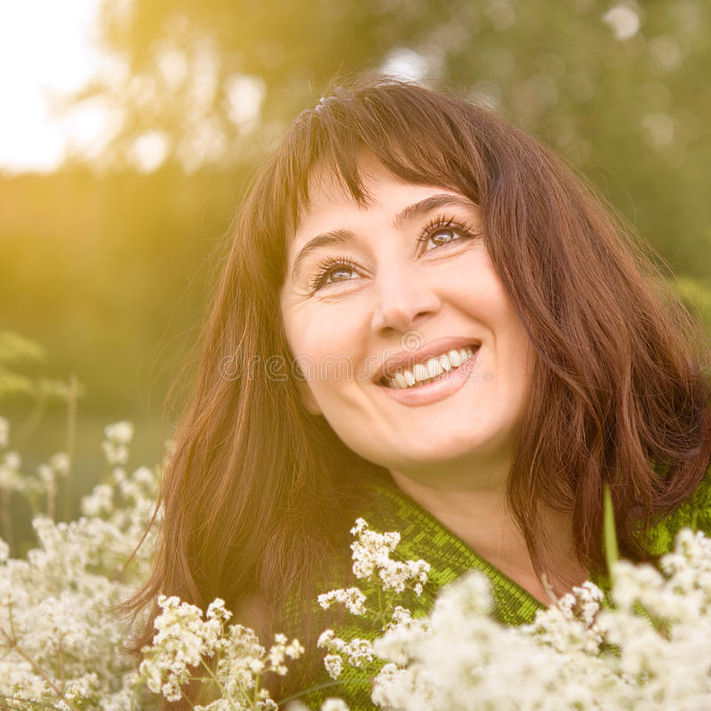 Smiling woman. royalty free stock images