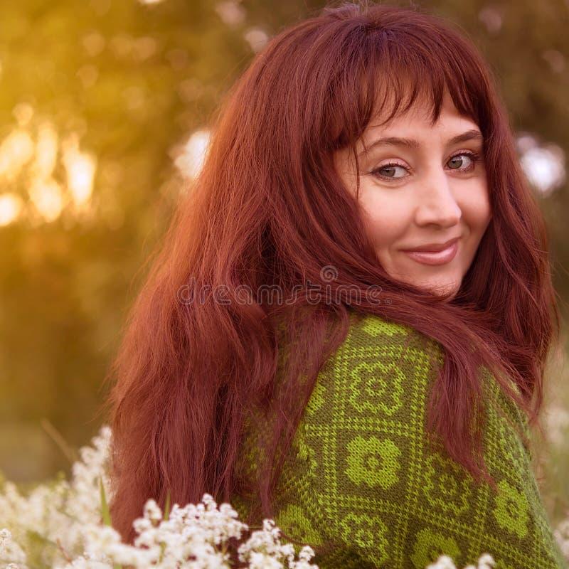 Smiling woman. stock image
