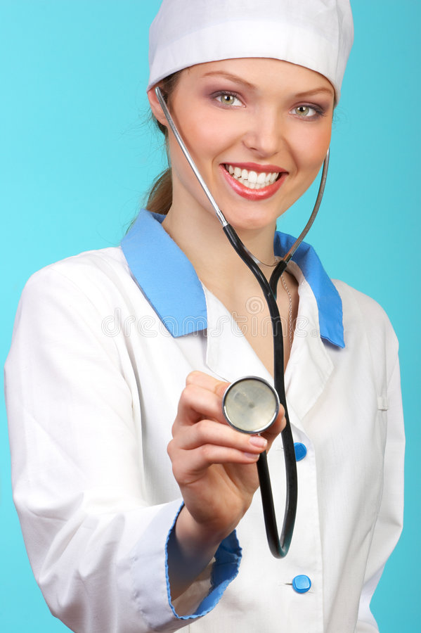 Smiling woman doctor royalty free stock photography