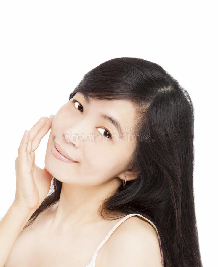 Download Smiling woman face stock image. Image of studio, aged - 26737565
