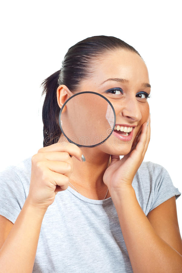 Smiling woman with healthy skin royalty free stock image