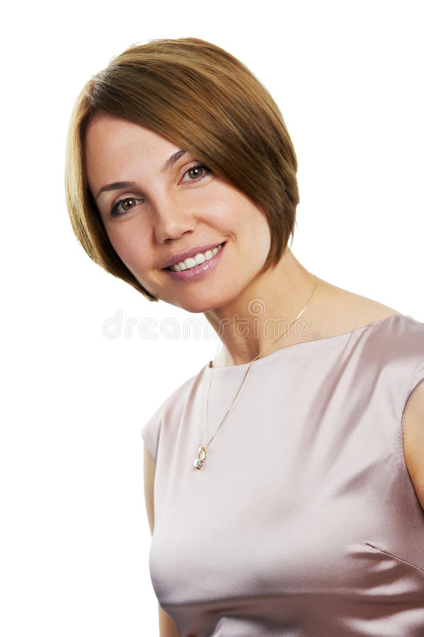 Smiling Woman Isolated Royalty Free Stock Photo