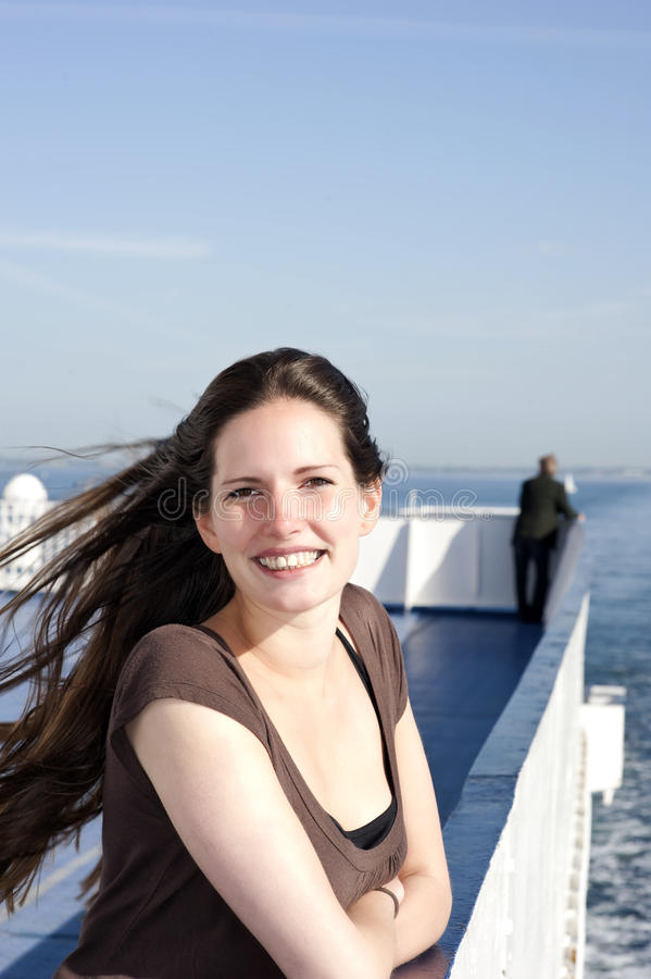 Free Smiling Woman On Cruise Ship Royalty Free Stock Photos - 14806428