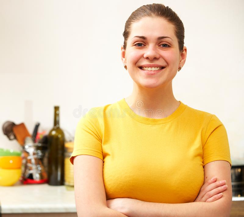 Smiling woman portrait royalty free stock image