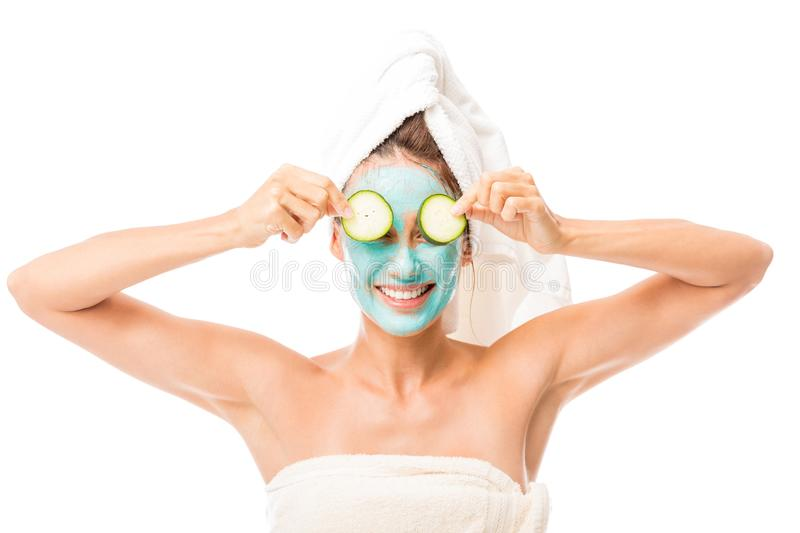 Smiling Woman Receiving A Beauty Treatment stock photography