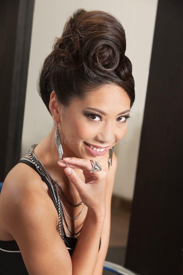 Smiling Woman With Retro Hairdo Royalty Free Stock Image