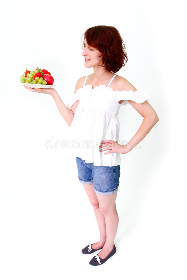 Download Smiling Woman With Strawberries Stock Photo - Image: 27046152