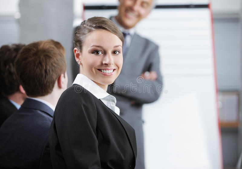 Download Smiling woman stock image. Image of manager, indoors - 31506517