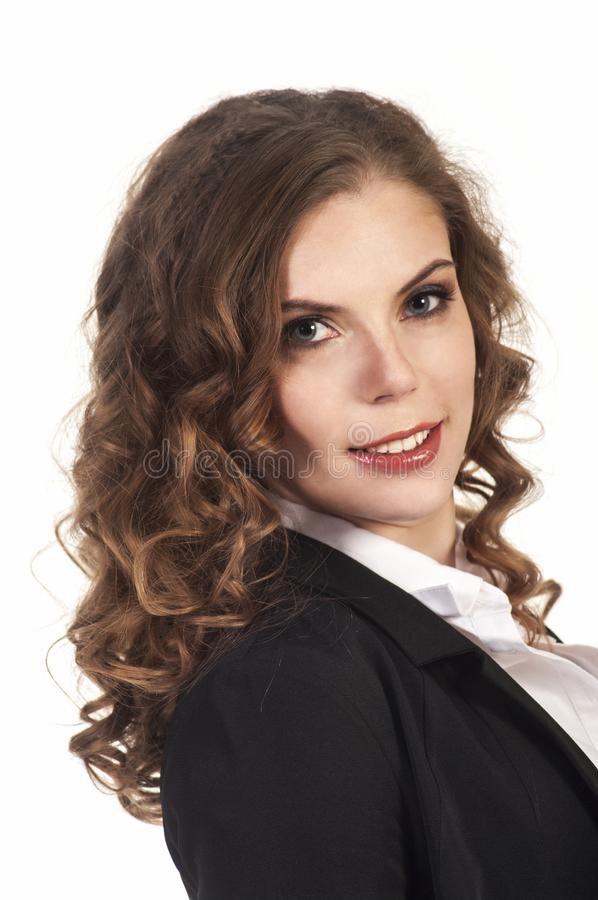 smiling woman young λευκή γυναίκα ύφους επιχειρησιακών πεννών στοκ εικόνες