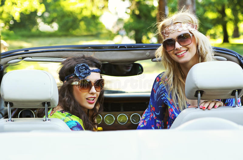 Download Smiling women in a cabrio stock photo. Image of people - 25437368