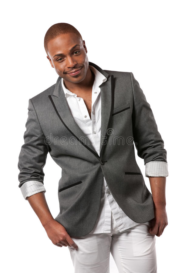 Smiling Young African American Male Model
