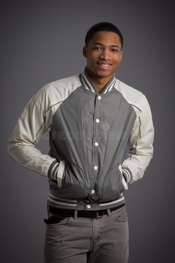 Download Smiling Young African American Male Model Natural Looking Stock Photo - Image: 32728458