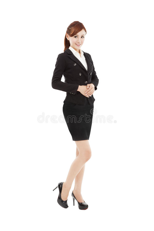 Smiling young asian business woman royalty free stock photos