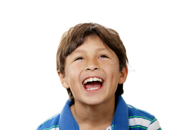Smiling young boy stock photo