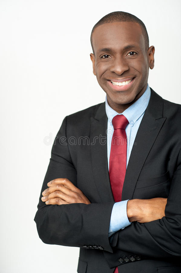 Smiling young business executive royalty free stock images
