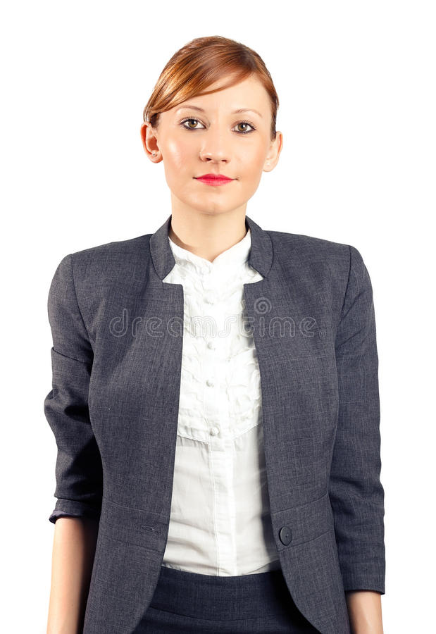 Smiling young business woman portrait royalty free stock photos