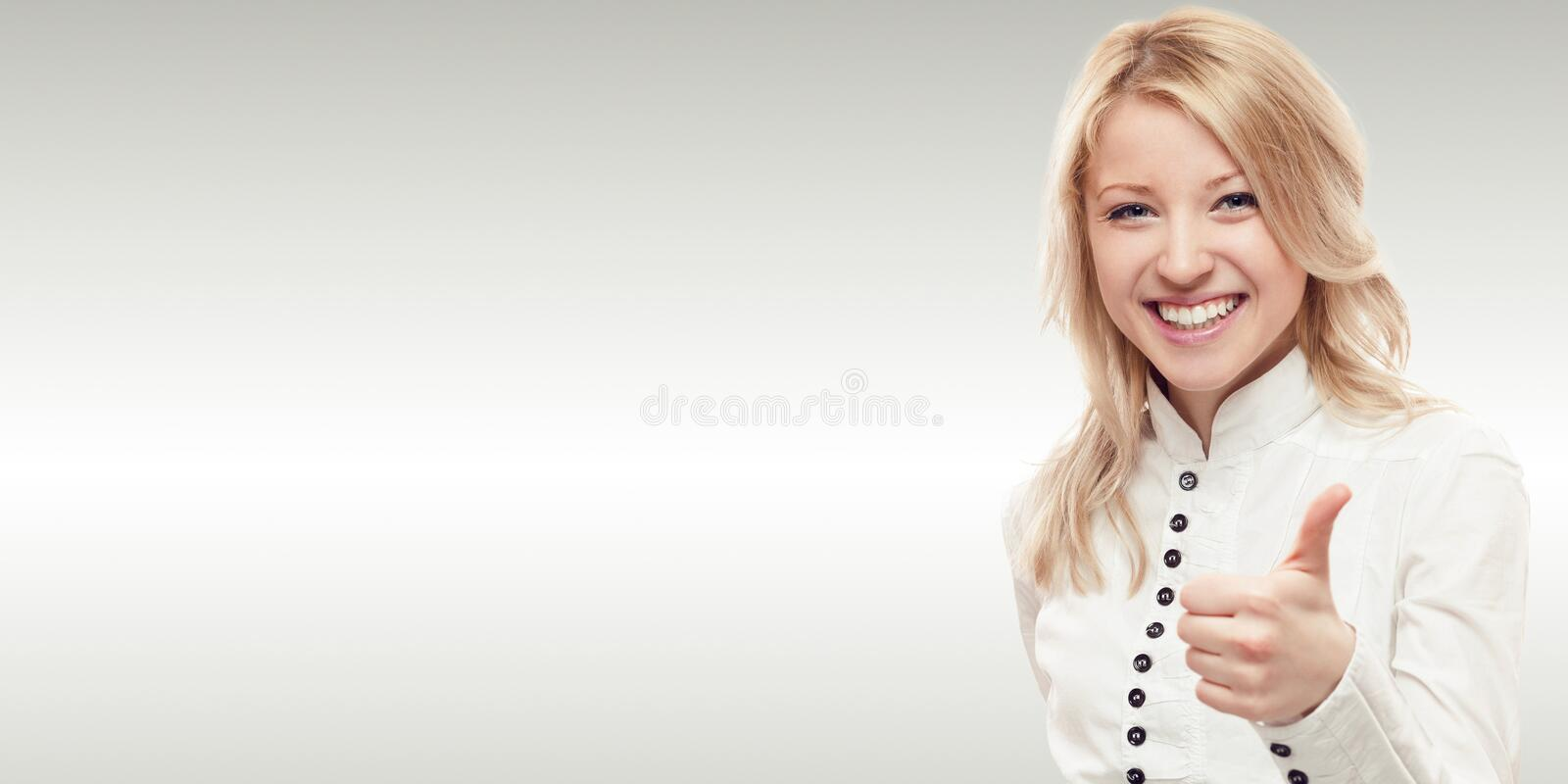 Smiling young business woman stock photos