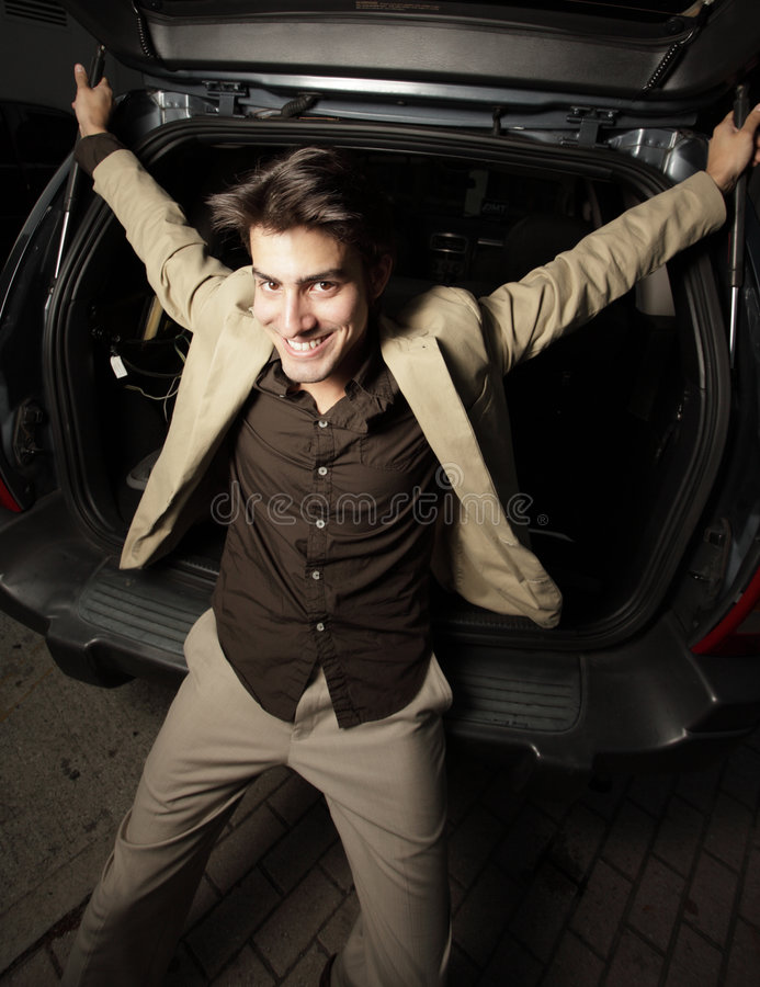 Download Smiling young businessman stock photo. Image of extended - 8805784