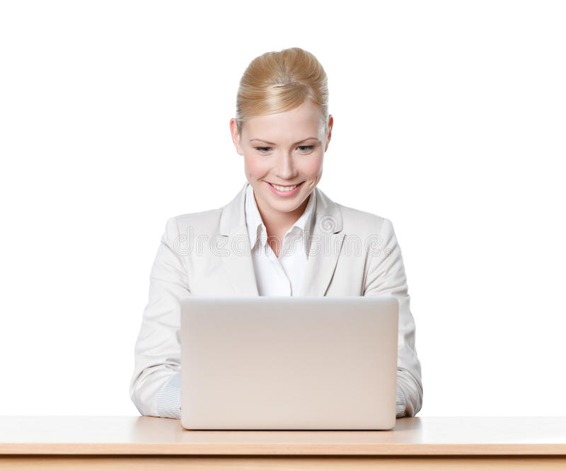 Download Smiling Young Businesswoman Stock Photo - Image of attractive, caucasian: 26597678