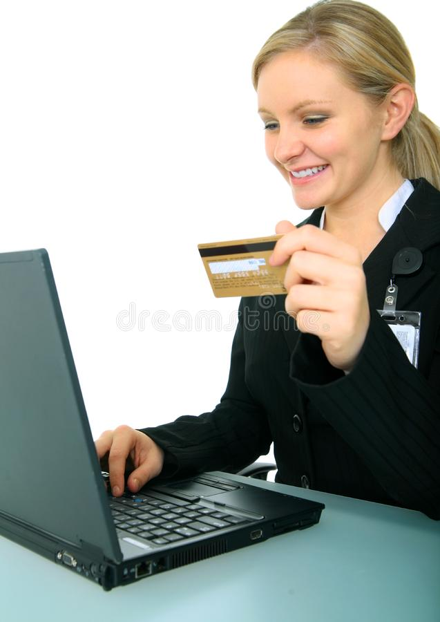 Smiling Young Businesswoman Stock Photo