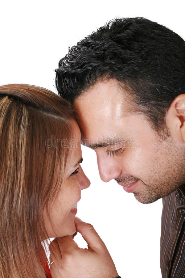 Smiling Young Couple In Love Stock Photography