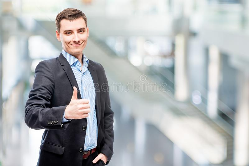 Smiling young male business executive stock photography