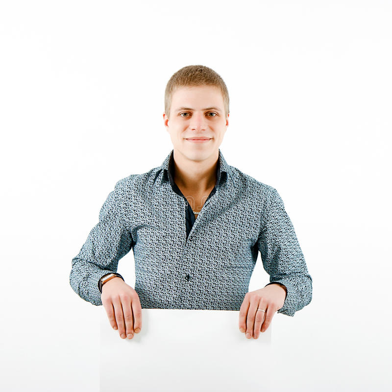 Download Smiling young man stock photo. Image of clean, background - 25478570