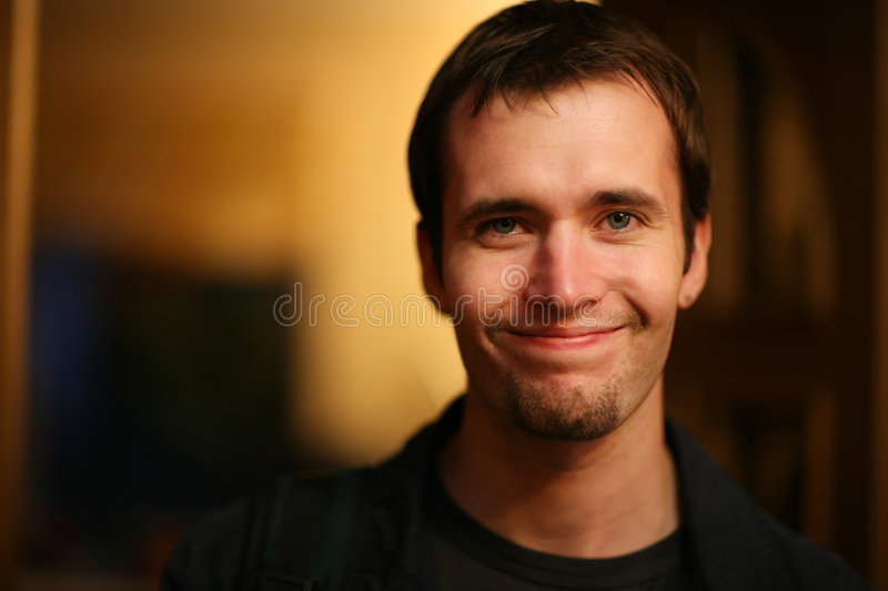 Download Smiling young man stock image. Image of friendly, contact - 8863439