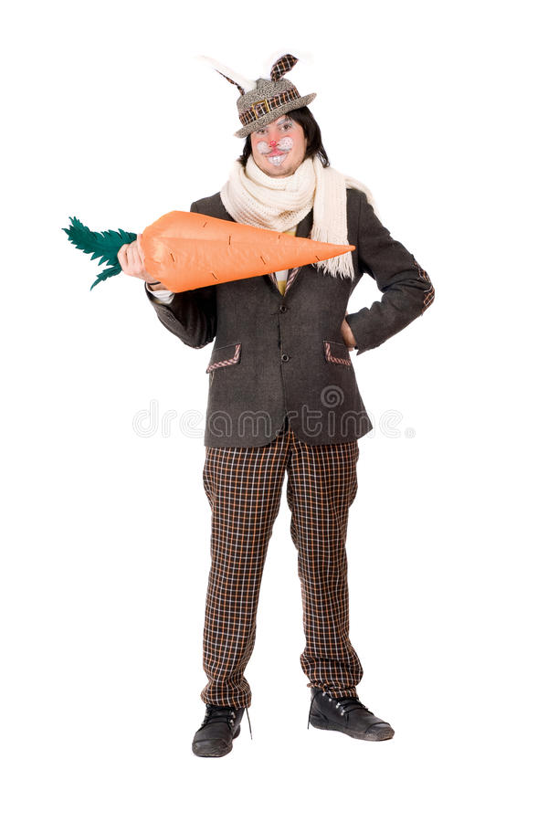 Download Smiling Young Man With Carrot Stock Photo - Image: 28998672
