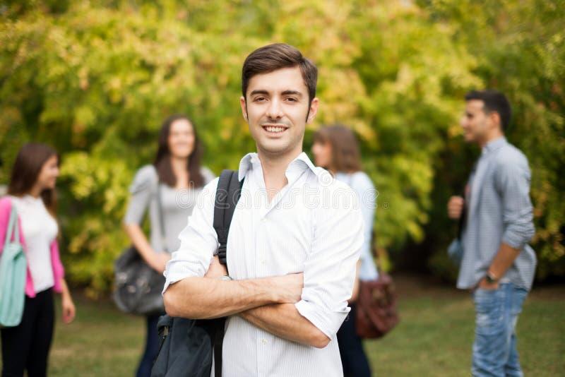 Smiling young man portrait stock photos