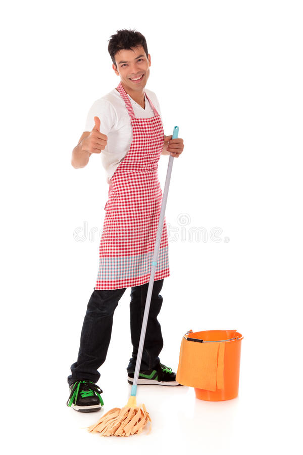 Download Smiling Young Nepalese Man, Housework Stock Photo - Image: 16581570