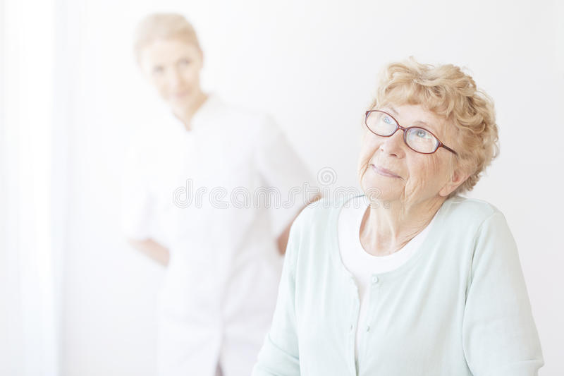 Happy older women royalty free stock photography