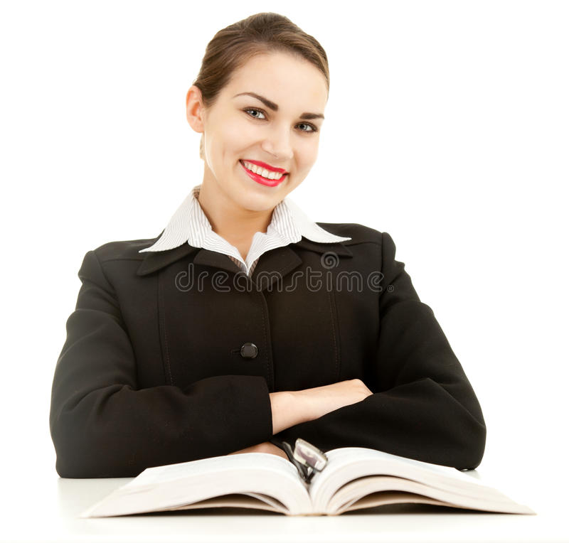 Download Smiling Young Student Girl With Book Stock Photo - Image: 24295538