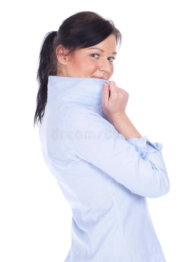 Download Smiling young woman stock photo. Image of beautiful, shirt - 19147430