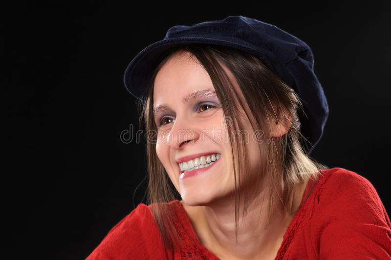Download Smiling Young Woman stock image. Image of laughing, studio - 21205395