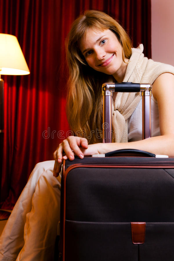 Download Smiling young woman stock photo. Image of beautiful, indoor - 24012564